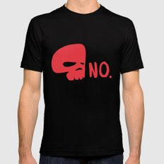 No. MEDIUM Black Mens Fitted Tee