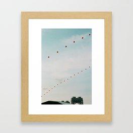 Balloons in the Sky Framed Art Print