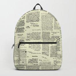 George Washington's Letters // Parchment Backpack