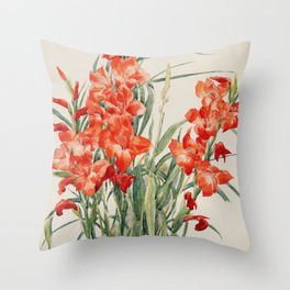 Charles Demuth  -  Red Gladioli Throw Pillow
