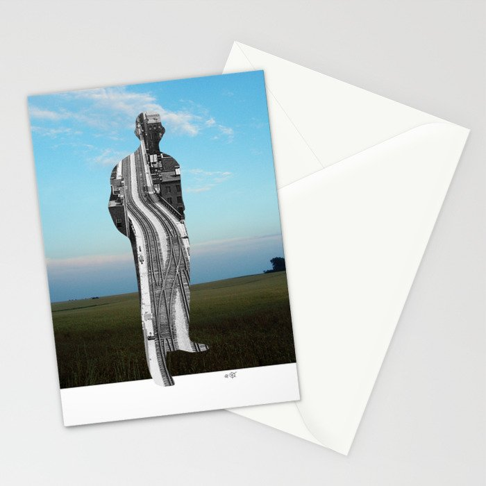 City Man´s Dream Collage Stationery Cards