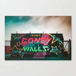 Coney Island Graffiti 2 Canvas Print