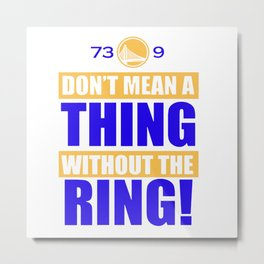 Golden State Warriors Useless Record NBA Metal Print