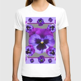 LILAC PURPLE PANSIES GARDEN T-shirt