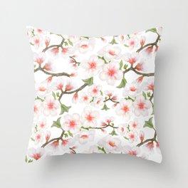 Flowering Almond Garden Throw Pillow