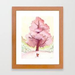 The pink tree Framed Art Print