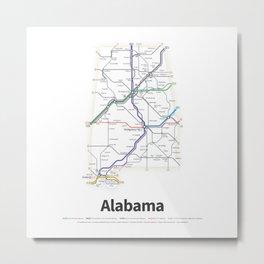 Highways of the USA – Alabama Metal Print