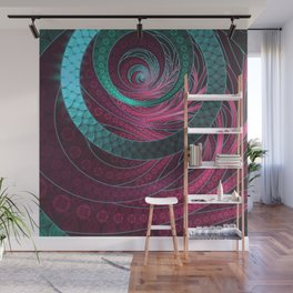 Abstract Bangles of Very Berry Bubblegum Bands Wall Mural