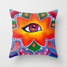 Eye of the Lotus Throw Pillow