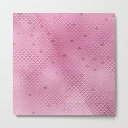 Fuchsia Mermaid Scales Metal Print