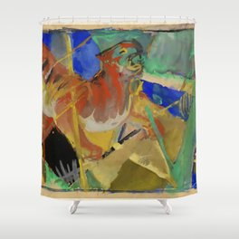 "Franz Marc ""Tiger in the Jungle"" Shower Curtain"