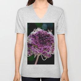 field carmine flower Unisex V-Neck