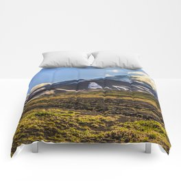 Looking at a Volcano Comforters