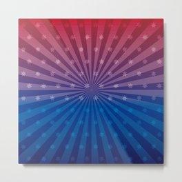 U.S. Star motif colorful and a eye-catcher Metal Print