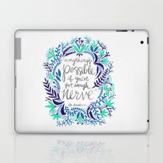 Anything's Possible – Silver & Blue Laptop & iPad Skin