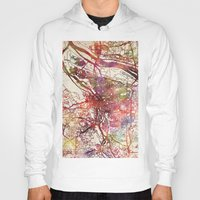 portland Hoodies featuring Portland by MapMapMaps.Watercolors
