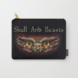 Skull And Beasts 2 Carry-All Pouch