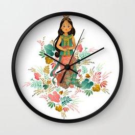 The Sundanese Goddess of Rice and Prosperity Wall Clock
