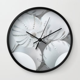 White Glass Wall Clock