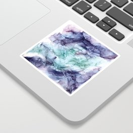 Growth- Abstract Botanical Fluid Art Painting Sticker