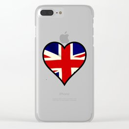 Love Britain Clear iPhone Case