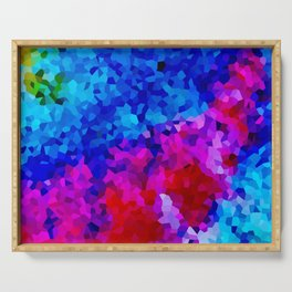 Rock Candy Blue Tie Dye. Serving Tray