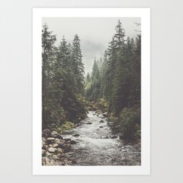 Mountain creek - Landscape and Nature Photography Kunstdrucke