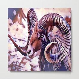 The Bighorn sheep Metal Print