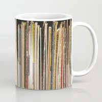 records Mugs featuring Records by Cassia Beck
