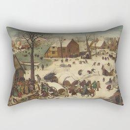 Pieter Bruegel The Elder - The Numbering At Bethlehem Rectangular Pillow