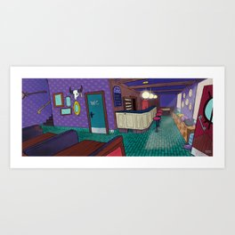 Magic Cafe Art Print
