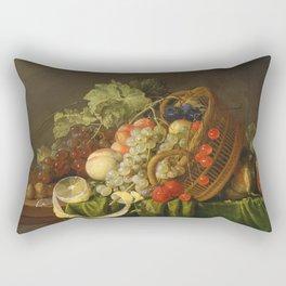 Cornelis De Heem - Still Life With A Basket Of Fruits. Rectangular Pillow