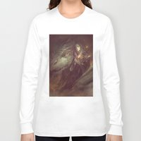 meme Long Sleeve T-shirts featuring MEME 004 Merlin Aithusa by mushroomtale