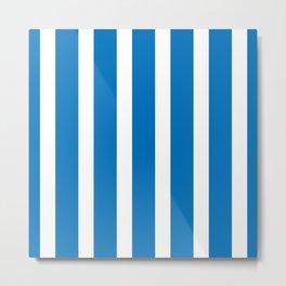 Resort Stripe in Blue Metal Print