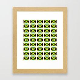 Flag of Jamaica 2-Jamaican,Bob Marley,Reggae,rastafari,cannabis,ganja,america,south america,ragga Framed Art Print