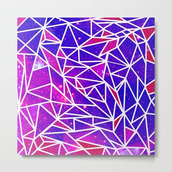 Starry Crystalline Space Pattern Metal Print
