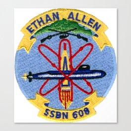 USS ETHAN ALLEN (SSBN-608) PATCH Canvas Print