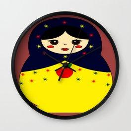 Snow White Nesting Doll Wall Clock