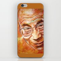 lama iPhone & iPod Skins featuring Dalai Lama by ARTito