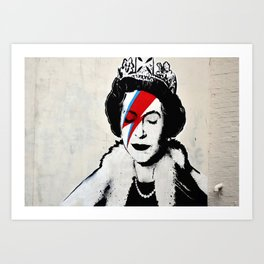 Banksy, Queen Art Print