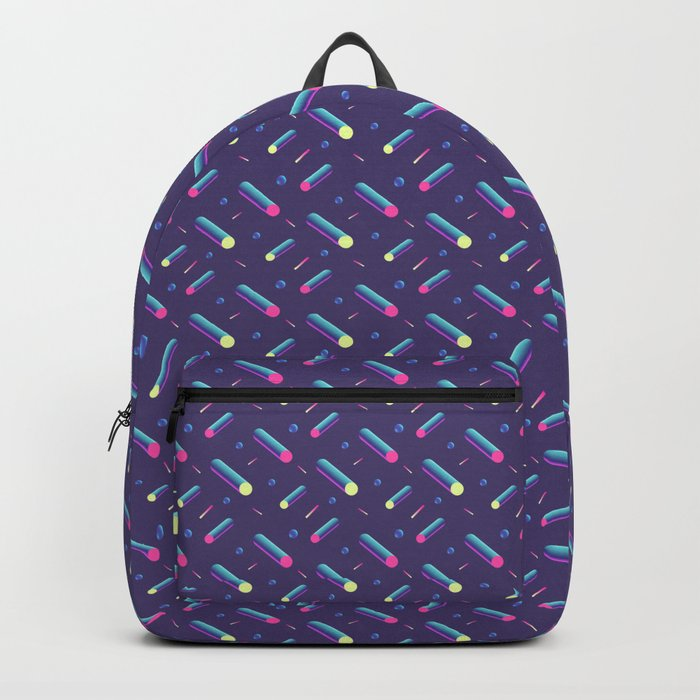 3f272fe5837f Dark purple with tubes. 80 s style pattern. Backpack by darumo ...