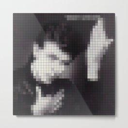 Bowie : Heroes Pixel Album Cover Metal Print