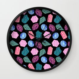 Low poly crystal pattern 1 Wall Clock