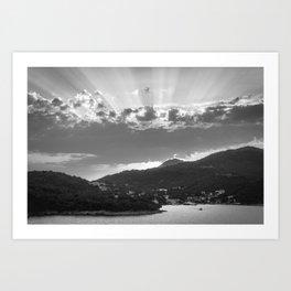 Dubrovnik Beams BW II Art Print
