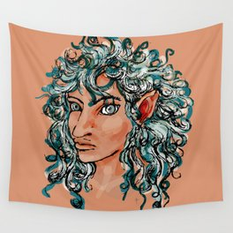 Female elf profile 1d ver. 2 Wall Tapestry
