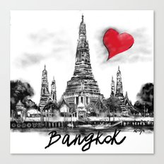 I love Bangkok Canvas Print