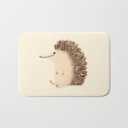 Happy Hedgehog Sketch Bath Mat