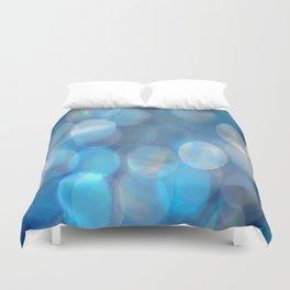 Blue Bokeh Duvet Cover