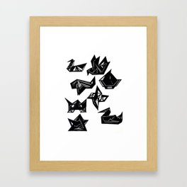 Origami Geometrics Framed Art Print