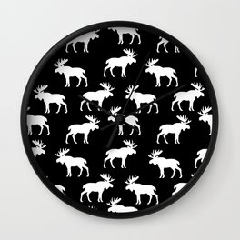 Moose Trot // Black Wall Clock